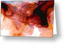 Garnet Sea - Abstract Art By Sharon Cummings Greeting Card