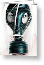 Gas Mask Greeting Card by Jt PhotoDesign