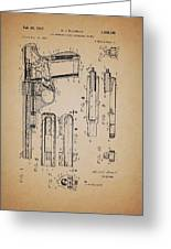 Gas Operated Semi-automatic Pistol Greeting Card