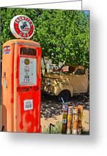 Gas Pump At Embudo Gas Museum Greeting Card