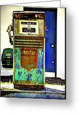 Gas Pump Greeting Card