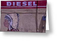 Gas Station Indian Chief Greeting Card