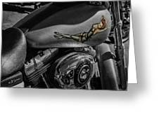 Gas Tank Pin Up Girl Greeting Card
