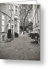 Gaslight Court Chicago Old Town Greeting Card