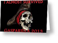 Gasparilla 2013 Postertshirt Work B Greeting Card