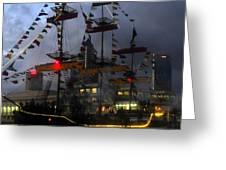 Gasparilla Ship Print Work B Greeting Card