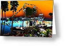 Gasparilla Sunset Greeting Card by David Lee Thompson