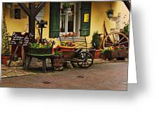 Gast Haus Display In Rothenburg Germany Greeting Card by Greg Matchick