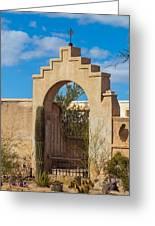 Gate At San Xavier Del Bac Greeting Card