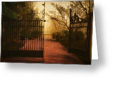 Gate At The Abby Greeting Card