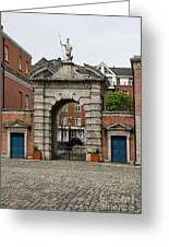 Gate Of Fortitude - Dublin Castle Greeting Card