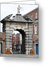 Gate Of Justice - Dublin Castle Greeting Card