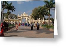 Gate To Maharaja's Palace India Mysore Greeting Card