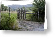 Gate To Peaceful Paradise Greeting Card