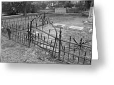 Gated Community In Black And White Greeting Card