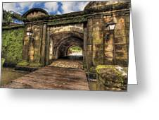Gates Of Intramuros Greeting Card by Mario Legaspi