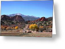 Gateway To The Rockies Greeting Card