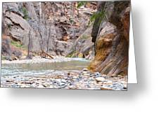 Gateway To The Zion Narrows Greeting Card