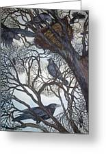 Gathering A Murder Of Crows I Greeting Card by Helen Klebesadel