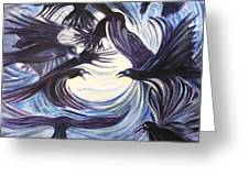 Gathering Of The Ravens Greeting Card