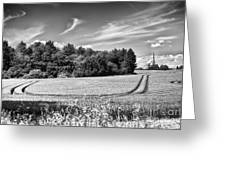Gathering The Crop To Thaxted Mill Greeting Card