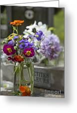 Gathering Wildflowers Greeting Card