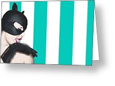 Sexy Catwoman Greeting Card
