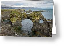 Gatklettur Arch In Hellnar Greeting Card