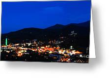 Gatlinburg Skyline At Night Greeting Card