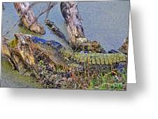 Gator Camo Greeting Card