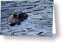 Gator On The Hunt Greeting Card by Andres Leon
