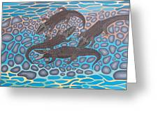 Gator Rock Greeting Card by Anthony Morris