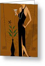 Gatsby Girl Greeting Card by Troy Brown