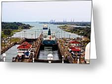 Gatun Locks Panama Canal Greeting Card