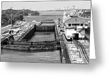 Gatun Locks Panama Monochrome Greeting Card