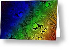 Gaudy Floral Fractal Greeting Card
