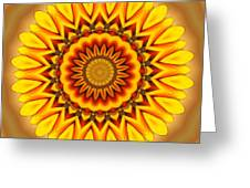 Gazania Kaleidoscope Greeting Card