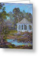 Gazebo And A Dream Greeting Card by Michael Mrozik