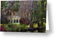 Gazebo At Magnolia Gardens Greeting Card