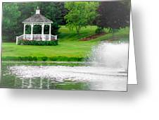 Gazebo Gardens IIi Greeting Card