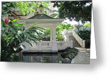 Gazebo Of The Tropics Greeting Card