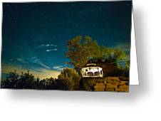 Gazebo On The Rocks Nocturne Greeting Card