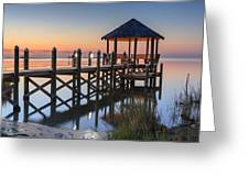 Gently - Gazebo On The Sound Outer Banks North Carolina Greeting Card