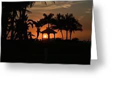 Gazebo Silhouette Greeting Card