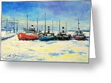 Gdynia Harbour - Winter Greeting Card