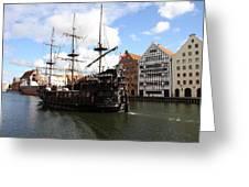 Gdynia Pirate Ship - Gdansk Greeting Card