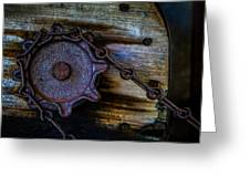 Gear And Chain Greeting Card