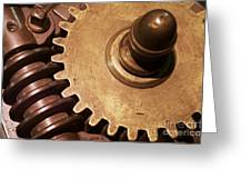 Gear Wheels Greeting Card