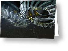 Gears Cogs And Oil Industry Greeting Card