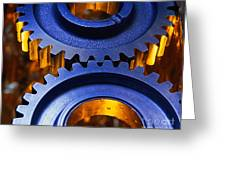 Gears Greeting Card by Terry Why